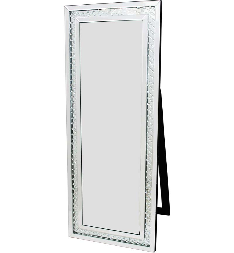 Floating crystals rhombus bevelled cheval mirror free for Miroir 150 x 60
