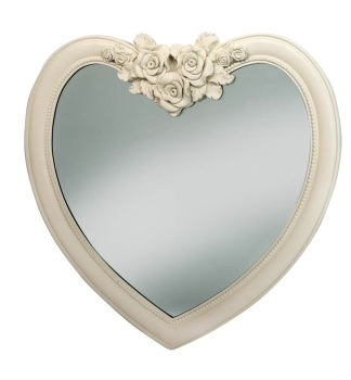 Heart Shaped Mirror in Cream / Ivory 88cm x 84cm