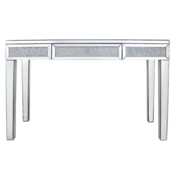 Milano Mosaic Crush Mirrored 1 Draw Console Table