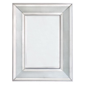 Frosted Milano Mosaic Crush Rectangular Wall Mirror