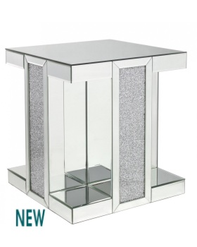 Milano Mosaic Crush Mirrored End Table