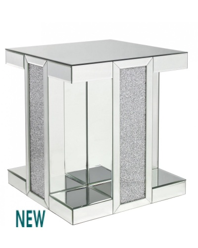 Milano Mosaic Crush Mirrored End Table