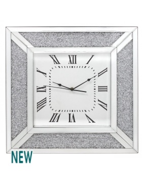 Milano Mosaic Crush Mirrored Clock