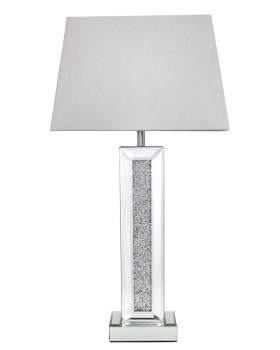 Milano Mosaic Crush Mirrored Lamp