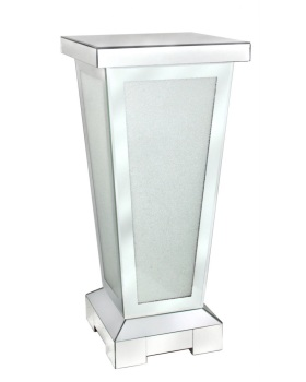 Frosted Milano Mosaic Crush Mirrored Pedestal Pillar