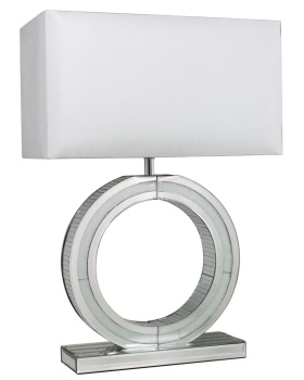 "Frosted Milano Mosaic Crush Mirrored ""O"" Lamp"