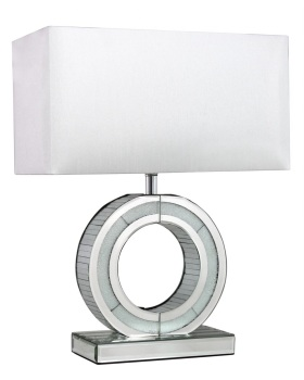 "Frosted Milano Mosaic Crush Mirrored ""O"" Lamp medium"