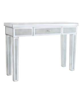 Frosted Milano Mosaic Crush Mirrored 1 Draw Console Table