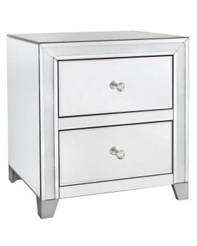 Frosted Milano Mosaic Crush Mirrored 2 Draw Chest