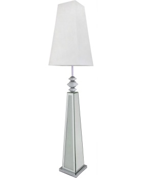 Frosted Milano Mosaic Crush Mirrored Floor Lamp