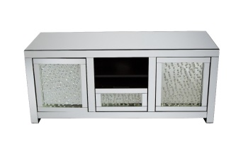*Floating Crystals Mirrored TV Entertainment Unit