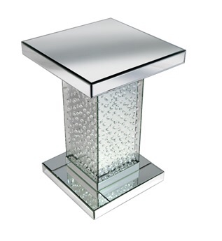 Floating Crystals Mirrored Lamp Table  72cm x 36cm