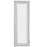 *Special Offer Glitz Floating Crystals Silver Wall Mirror 120cm x 40cm  - 4 sizes available