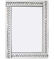 *Special Offer Glitz Floating Crystals Silver Wall Mirror 120cm x 80cm - 4 sizes available
