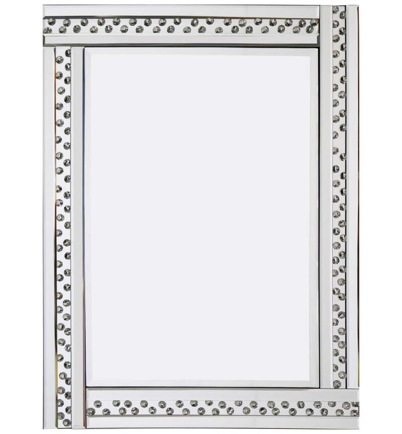 Floating Crystals Bevelled Wall Mirror 120cm X 80cm Sale