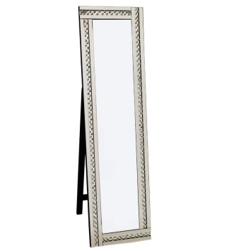 *Special Offer Glitz Floating Crystals Silver Cheval Mirror 150cm x 40cm