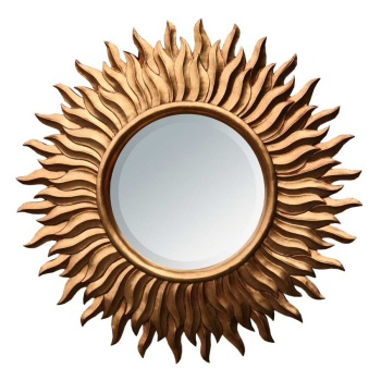 Gold Sunburst Mirror 90cm dia