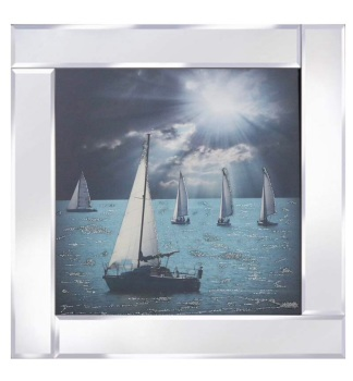 "Mirror framed art print ""Sailing"""