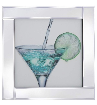 "Mirror framed art print ""Glitter Cocktail"""