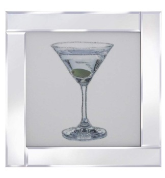 "Mirror framed art print ""Cocktail 2"""