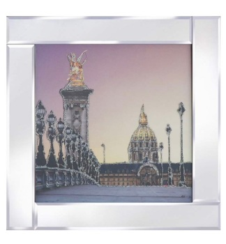 "Mirror framed art print ""City Bridge"" 60cm x 60cm"