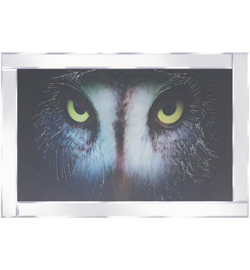Mirrored framed art print Colourful Zebras