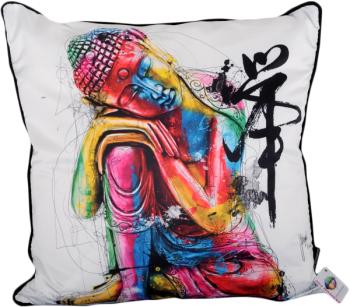Patrice Murciano 55cm Luxury Feather Filled Cushion - Bouddha Feng Shui 'BUDDHA'