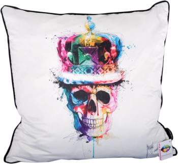 "Patrice Murciano 55cm Luxury Feather Filled Cushion - ""Skull King""'"