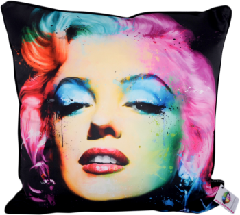 "Patrice Murciano 55cm Luxury Feather Filled Cushion in Black - ""Monroe"""