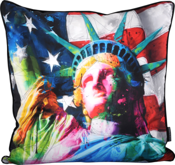 "Patrice Murciano 55cm Luxury Feather Filled Cushion ""Statue of Liberty"""