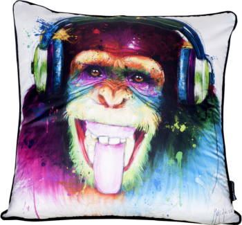 "Patrice Murciano 55cm Luxury Feather Filled Cushion - ""Smiling Chimp""'"
