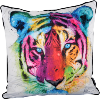 Patrice Murciano 55cm Luxury Feather Filled Cushion - 'Tiger'
