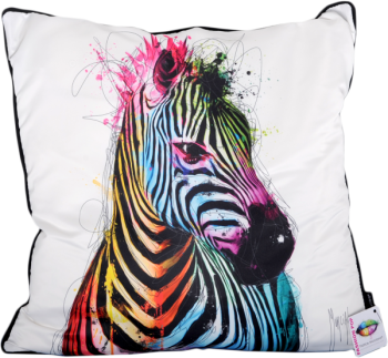 "Patrice Murciano 55cm Luxury Feather filled Cushion - ""Zebra"""