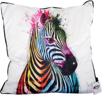 "Patrice Murciano 55cm Luxury Feather filled Cushion - ""Zebra"""
