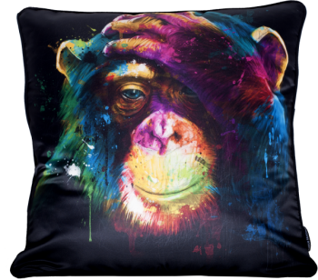 "Patrice Murciano 55cm Luxury Feather Filled Cushion - ""Chimp"""