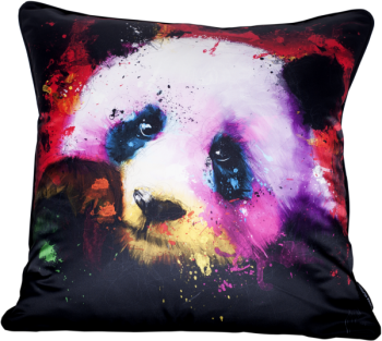 Patrice Murciano 55cm Luxury Feather Filled Cushion -  'Panda'