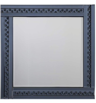 *Special Offer Glitz Floating Crystals smoked Grey Wall Mirror 60cm x 60cm - 4 sizes available