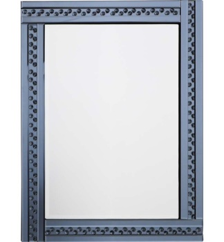 *Special Offer Glitz Floating Crystals smoked Grey Wall Mirror 120cm x 80cm - 4 sizes available