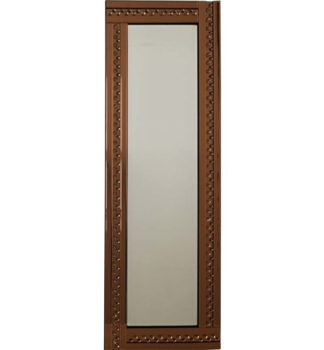Bronze Wall Mirror special offer copper / bronze tint floating crystals bevelled wall