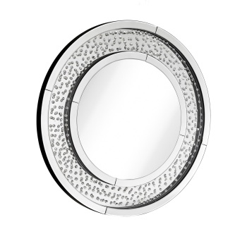 Floating Crystals Round Wall Mirror 90cm dia