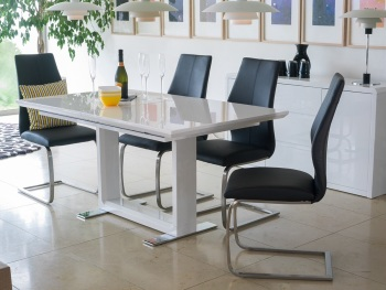 Allure 1600mm (ext 2200mm )Dining Table + 6 Imra Dining Chairs