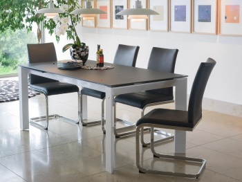 Mobo Dining Table medium 1400mm (Ext to 1900mm) + 6 Dining Chairs