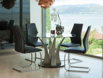 Liberty 1200m Round Dining Table + 4 Chairs