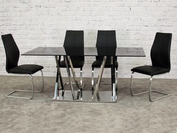 Warner Dining Table + 6 Chairs