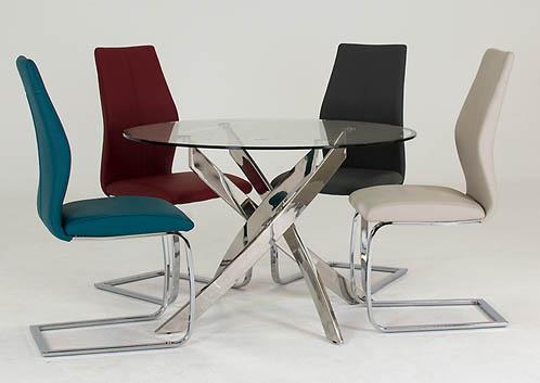 Kalmar Round Dining Table + 4 Evoque Chairs