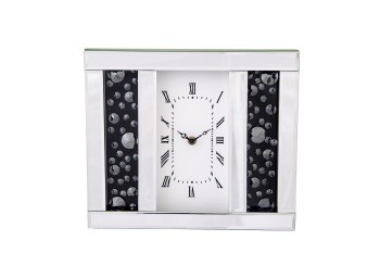 Black Jewel Floating Crystal Mantle Clock