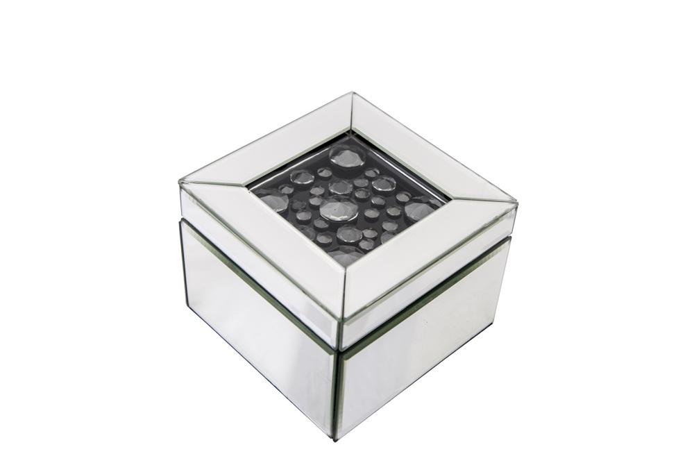 Black Floating Crystal Mantle Clock