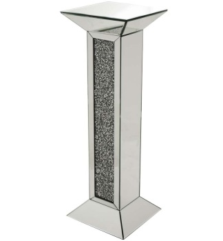 Crush Sparkle Crystal Mirrored Lamp Pedestal