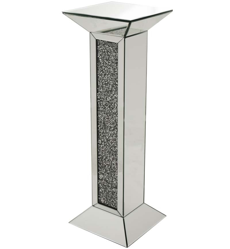 Crush Sparkle Mirrored Lamp Pedestal