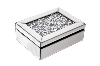 Crush Sparkle Crystal Mirrored Jewel Box - instock for a fast delivery